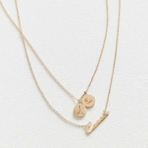 NWT UO Zodiac Layering Charm Set Necklace CANCER